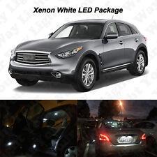 14x White LED Interior Bulbs + License Plate Lights For 2009-2016 FX35 FX50 QX70