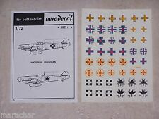 DECALS AERODECAL 1/72ème NATIONAL INSIGNIAS ref. 17 A