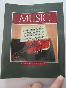 Music An Appreciation Third Brief Addtion by Roger Kamien 1998