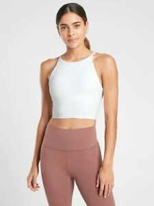 NWT-Athleta Intention Crop Top, White Cup A-C, Removable Pads, Medium Retail $59