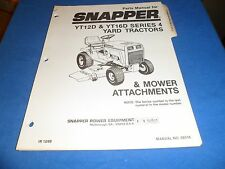 (DRAWER 22) Snapper YT12D YT16D Series 4 Yard Tractors Mower Attach Parts Manual