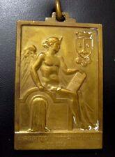 Belgian Exposition Internationale de L'Eau 1939 Plaquette Medal by Martin N.111