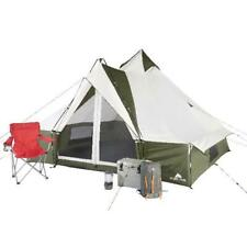 8-Person Teepee Style Lodge Tent Lightweight W/ Hanging Organizer Hiking Gear