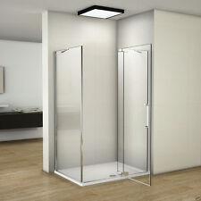 1000x900x1950 Frameless Pivot Shower Screen Enclosure Opening Adjustable