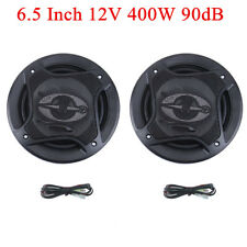 2Pcs 6.5'' Car Audio Coaxial Component Speakers Stereo 90dB 400W 4 Way Subwoofer