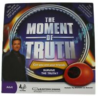The Moment Of Truth Adult Party Lie Detector Game NEW 2008 Selchow & Righter