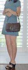 Coach Chelsea Brown  Pebbled Leather  Pocket Shoulder  Bag Handbag 10893