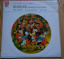 Paul Kletzki, Emmy Loose - Mahler: Symphony 4 - HMV SXLP 30054 (UK 1962)