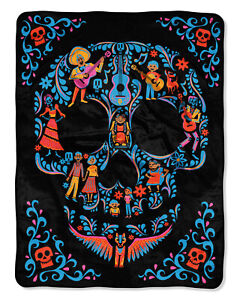 "Disney Pixar Coco Family Tree Fleece Super Plush Throw Blanket 46"" x 60"" (117cm"