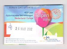 nederland coincard EERSTE DAG VAN UITGIFTE TULPEN VIJFJE 2012