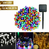 100 LED Solar Power String Lights Garden Path Yard Decor Lamp Waterproof Outdoor