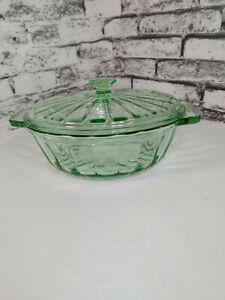 Vintage Green MSE (Martha Stewart Everyday) Lidded 2qt Glass Casserole Dish