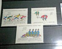 """FRANCOBOLLI STAMPS LIECHTENSTEIN 1987 """"WINTER OLYMPICS"""" MNH** SET (CAT.5)"""