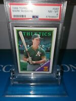 PSA 8 MINT ~1988 Topps Mark McGwire#580  ROOKIE ALL-STAR Gold 🏆CLASSIC BIG 🍔🔥
