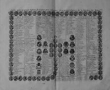 Carte antique, carte genealogique de rois de France