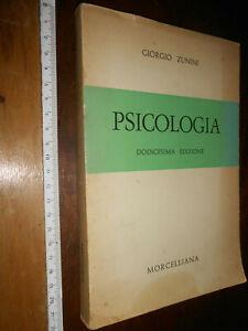LIBRO:PSICOLOGIA -GUIDE DI CULTURA GIORGIO ZUNINI