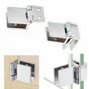 Bathroom Durable Shower Glass Door Hinges Cabinet Cupboard Hardware Clamp Hinge