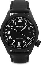 Fossil Men's Aeroflite AM4515 Black Leather Quartz Watch