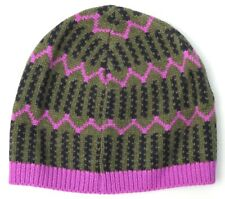 *NWOT* J.Crew Women's ZigZag Stripe Winter Cap - One Size - Olive Navy Amethyst