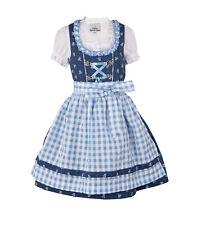 Ramona Lippert® Kinderdirndl Chrissi blau dunkelblau Dirndl Mädchen 3-tlg Set