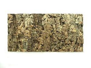 Natural Cork Bark Tile Background Wall Reptile Terrarium Vivarium 60x30cm