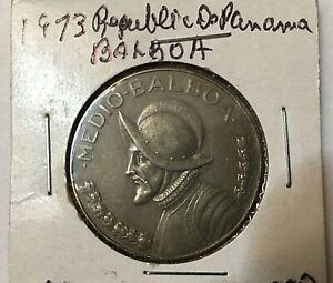 1973 Panama Balboa Coin  a beautiful sharp coin must see
