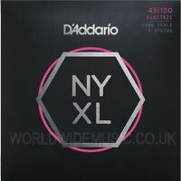 D'Addario NYXL Nickel Wound Long Scale Bass Guitar Strings with choice of gauge