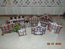 Shelia's Collectible Houses, Philadelphia, Pa 1990 ~ Lot Of 7