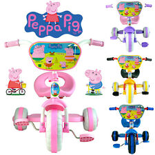 PEPPA PIG GEORGE & FAMILY BIKE TRIKE TRICYCLE KID CHILD 3 WHEEL CAR RIDE ON TOY