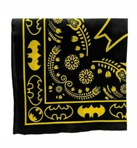Black & yellow paisley print bandana face mask covering superhero 100% cotton