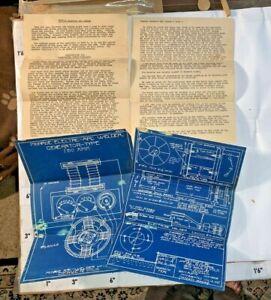 1934 Blueprints Monroe Arc Welder 150 Amp Denver CO by Gantt North Platte NE
