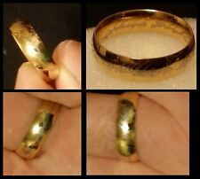CAPTIVATING HIGH POLISH YELLOW GOLD PLATED BRASS MEN'S RING, SIZE 9
