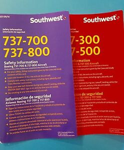 2014  SOUTHWEST AIRLINES SAFETY CARDS SET
