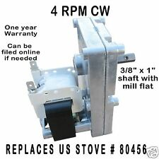 US STOVE PELLET CORN AUGER & AGITATOR MOTOR - [XP7004]  4 RPM CW - 80456