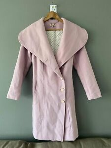REVIEW Wool Blend Pink Coat Size 8 Outerwear