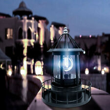 Solar Powered LED Rotating Lighthouse Light Garden Lawn Lamp Yard Decor Outdoor
