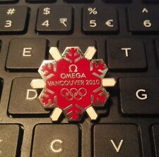 2010 VANCOUVER OLYMPIC OFFICIAL TIMEKEEPER OMEGA SNOW PIN