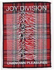 JOY DIVISION UNKNOWN PLEASURES RED TARTAN PATCH PUNK ROCK IAN CURTIS