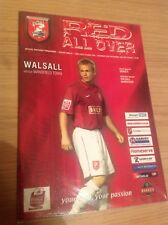 Walsall v Mansfield Town, Division 2, 30/09/2006