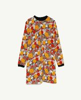 ZARA collection womens Printed dress with ribbed trims sz xs