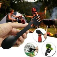 Titanium Fork Spoon Spork Cutlery Utensil Combo Outdoor Hiking Camping Z4K8 M6F9