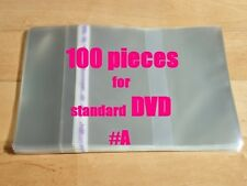 Resealable Outer Plastic Sleeves for standard DVD 100  (type #A)