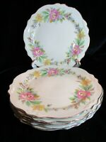 HOMER LAUGHLIN VIRGINIA ROSE CAC186 1947-1949 7 LUNCHEON PLATES 9 3/8""