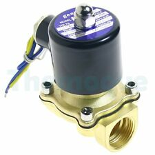 """2-Way Brass DC Solenoid Valve BSP Gas Air Water Oil Electric Pneumatic 3/4"""" 12V"""
