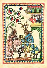 hand painted book page miniature painting vintage illuminated manuscript Artwork
