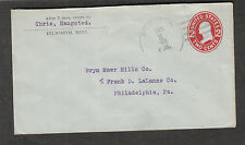 1911 cover Chris Haugsted Dilworth MN to Bryn Mawr Mills Co Philadelphia PA