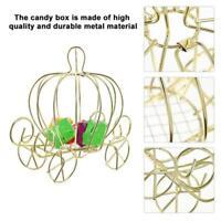 Creative Pumpkin Carriage Shape Metal Candy Box Wedding Party Decor