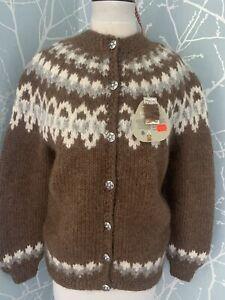 Hilda Icelandic Cardigan Lopi Wool Ladies Medium Water Repellant
