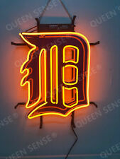 """New Detroit Tigers Beer Bar Pub Light Lamp Neon Sign 20"""" With Hd Vivid Printing"""