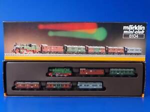 MARKLIN Z - 8104 - KPEV Royal Prussian Passenger set T12 Steam Locomotive / LN